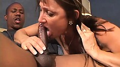 Skinny fat white MILF with a tramp-stamp takes it from a BBC