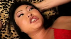 Asian whore Lucy Lee gets her ass humped and goes ass to mouth