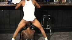Horny black bottom gets his butthole broken by a thick throbbing cock